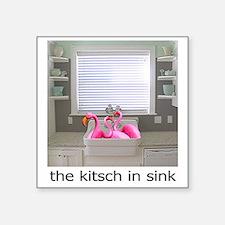 "sink flamingos 1 Square Sticker 3"" x 3"""
