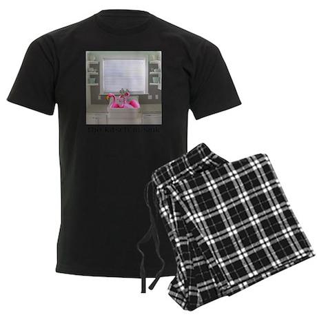 sink flamingos 1 Men's Dark Pajamas