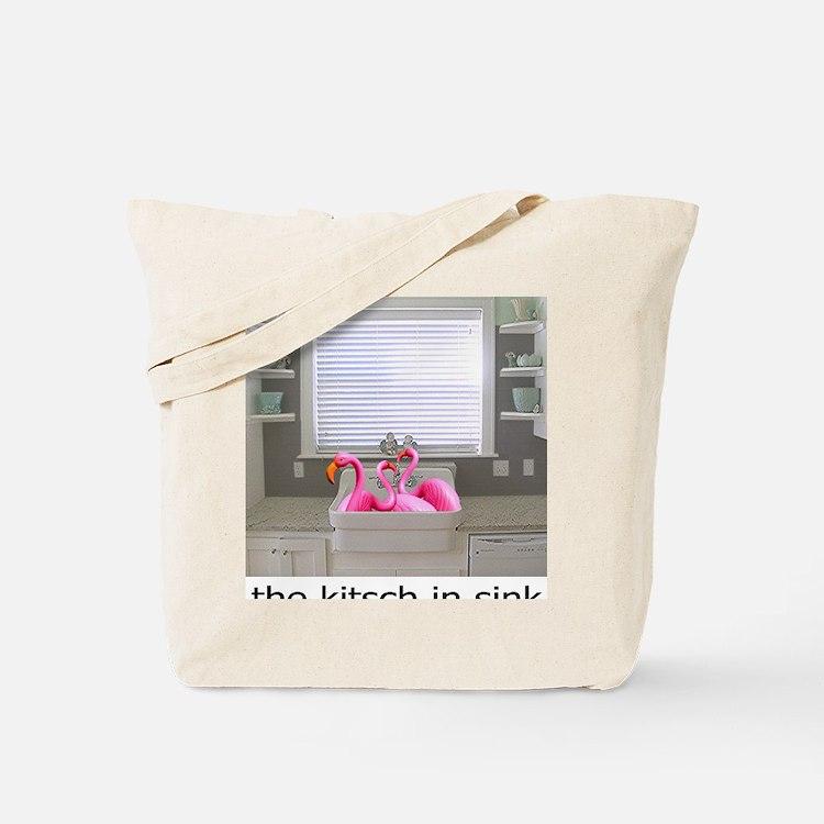 sink flamingos 1 for black copy Tote Bag