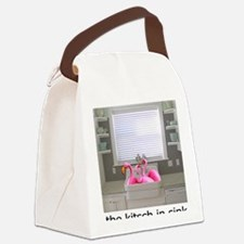 sink flamingos 1 for black copy Canvas Lunch Bag