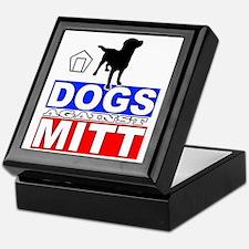 Mitt Romney Dogs Against Mitt 2 Keepsake Box