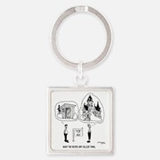 5964_real_estate_cartoon Square Keychain