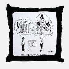 5964_real_estate_cartoon Throw Pillow