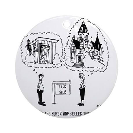 5964_real_estate_cartoon Round Ornament
