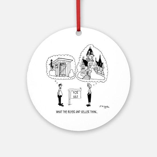 5964_real_estate_cartoon Round Ornament