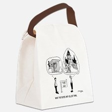 5964_real_estate_cartoon Canvas Lunch Bag