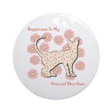 Shorthair Happiness Ornament (Round)