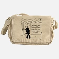 5967_banking_cartoon Messenger Bag
