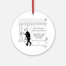 5967_banking_cartoon Round Ornament