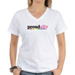 Proud Ally Women's V-Neck T-Shirt
