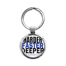 HARDER Round Keychain