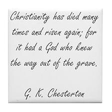 christianity rising Tile Coaster