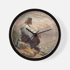 Jesus On A Mountain Alone (lg) Wall Clock