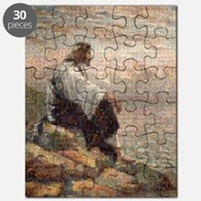 Jesus On A Mountain Alone (lg) Puzzle