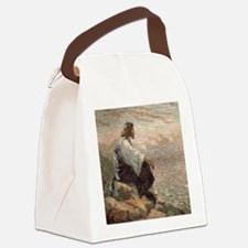 Jesus On A Mountain Alone (lg) Canvas Lunch Bag