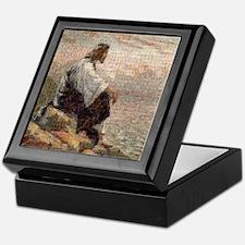 Jesus On A Mountain Alone (lg) Keepsake Box