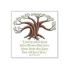 """greek-trees-DKT Square Sticker 3"""" x 3"""""""