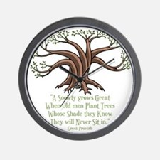greek-trees-DKT Wall Clock