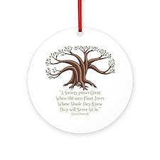 greek-trees-DKT Round Ornament