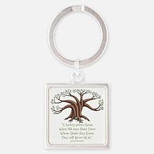 greek-trees-DKT Square Keychain