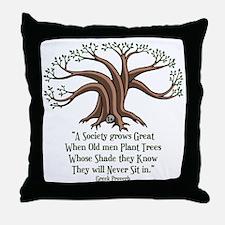 greek-trees-LTT Throw Pillow