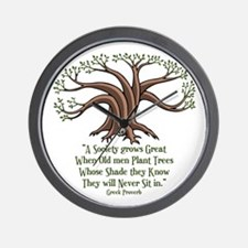 greek-trees-LTT Wall Clock
