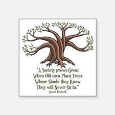 "greek-trees-LTT Square Sticker 3"" x 3"""