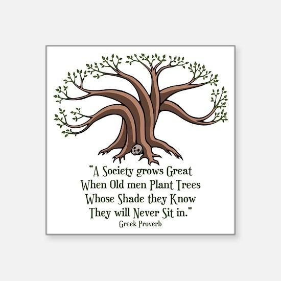 """greek-trees-LTT Square Sticker 3"""" x 3"""""""