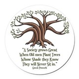 Greek tree Round Car Magnets