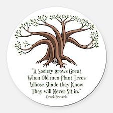 greek-trees-LTT Round Car Magnet