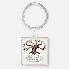 greek-trees-LTT Square Keychain