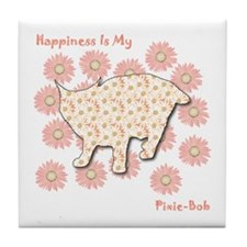 Pixie-Bob Happiness Tile Coaster