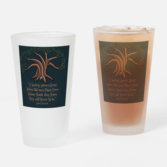 greek-trees-BUT Drinking Glass