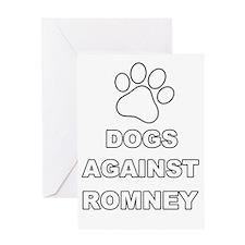 Mitt Romney Dogs against Romney 2 Greeting Card