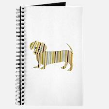 Striped Dachshund Puppy Journal