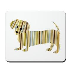 Striped Dachshund Puppy Mousepad