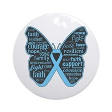 Thyroid Disease Butterfly Ornament (Round)
