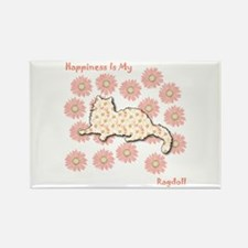 Ragdoll Happiness Rectangle Magnet