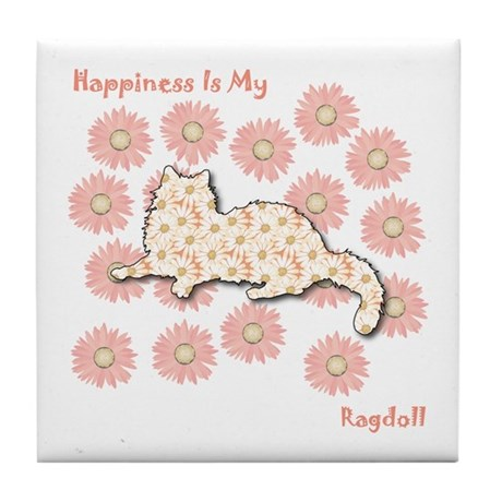 Ragdoll Happiness Tile Coaster