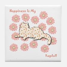 Ragdoll Happiness Tile Coaster