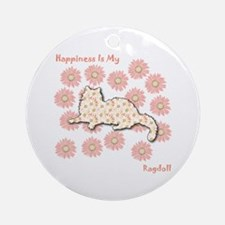 Ragdoll Happiness Ornament (Round)