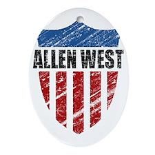 feb11_shield_allen_west Oval Ornament