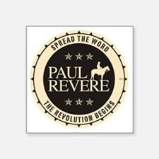"jan11_paul_revere2 Square Sticker 3"" x 3"""