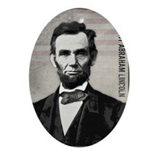 mar11_abe_lincoln Oval Ornament