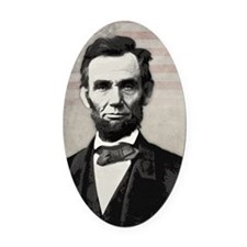 mar11_abe_lincoln Oval Car Magnet