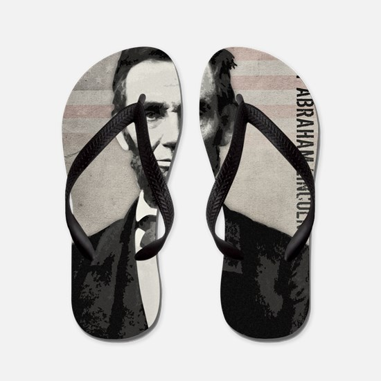 mar11_abe_lincoln Flip Flops