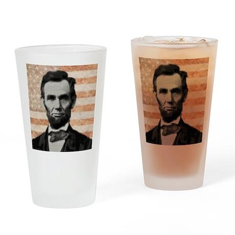 july11_abe_circle_pixels Drinking Glass
