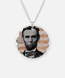 july11_abe_circle_pixels Necklace