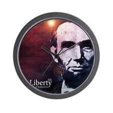 aug11_liberty_lincoln Wall Clock