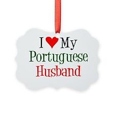 I Love My Portuguese Husband Ornament